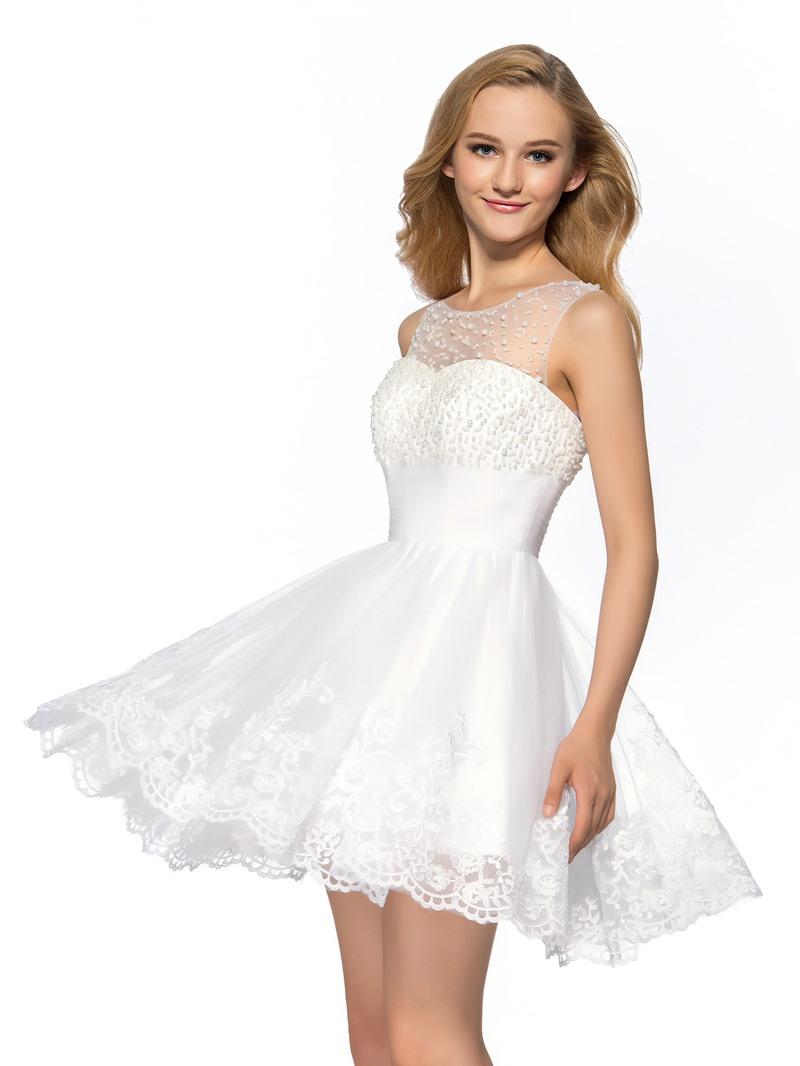 Concise A-Line Halter Neckline Short Homecoming Dress