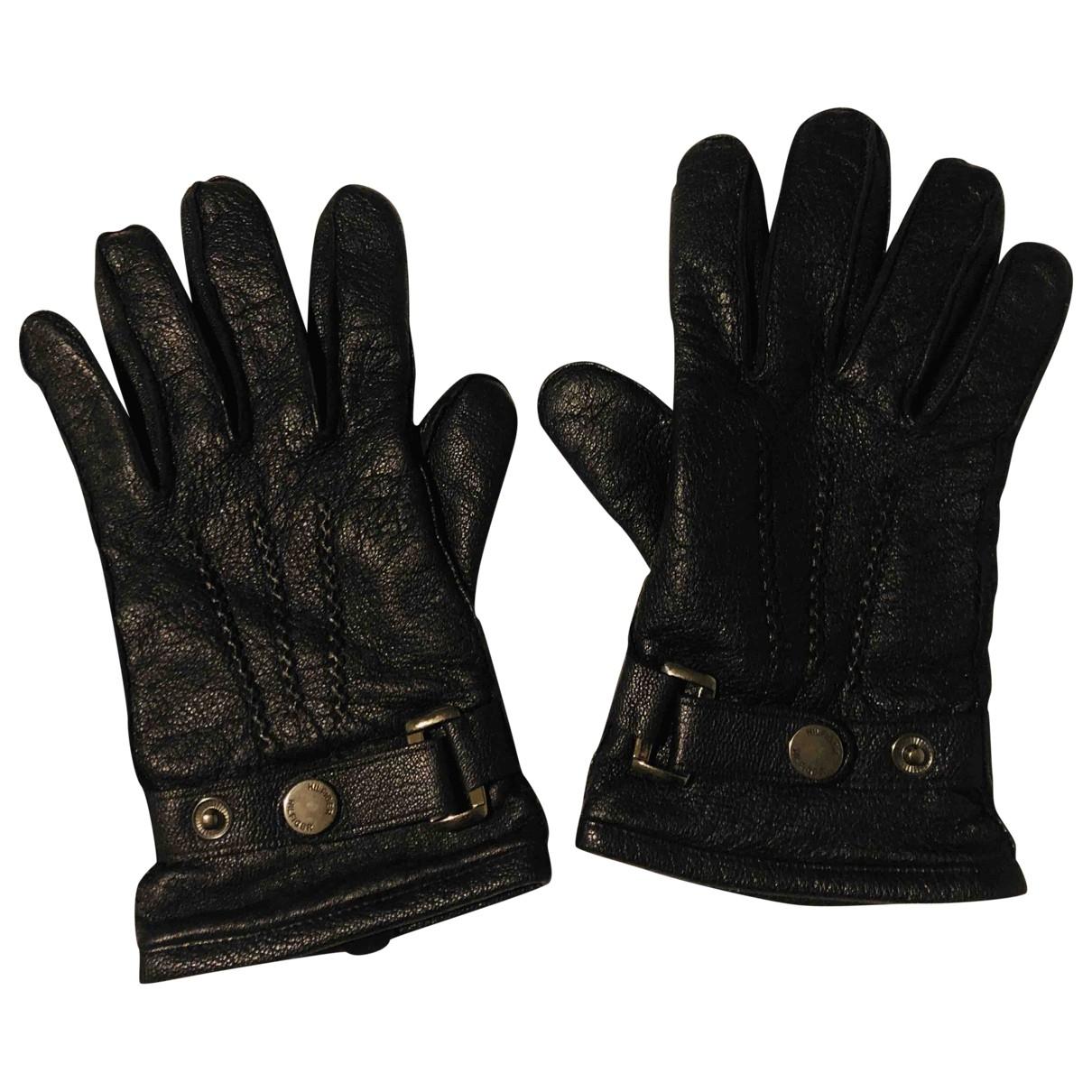 Tommy Hilfiger \N Black Leather Gloves for Men M International