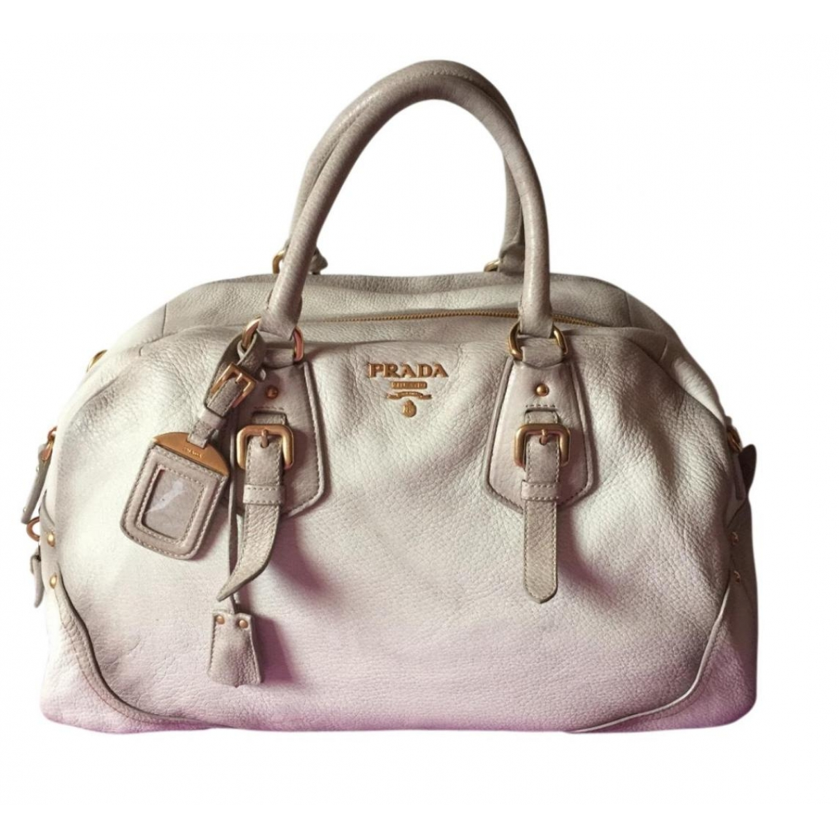 Prada \N Ecru Leather handbag for Women \N