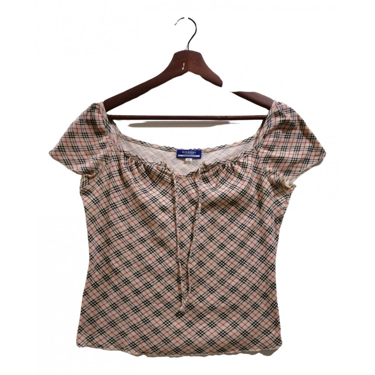 Burberry \N Beige Cotton  top for Women M International