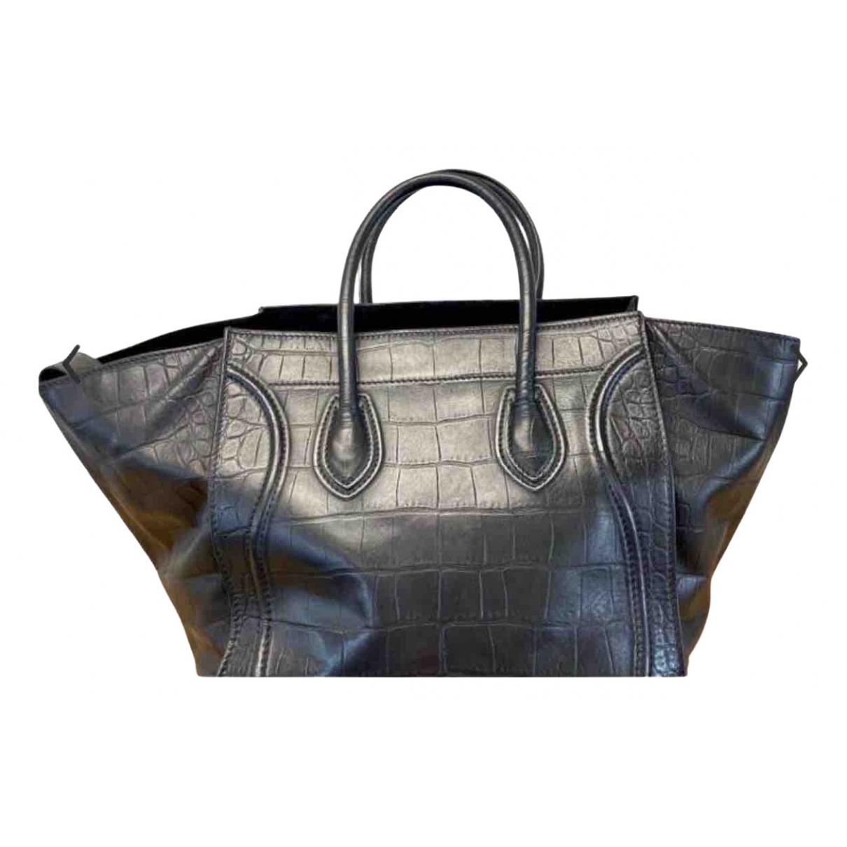 Celine Luggage Phantom Black Leather handbag for Women \N