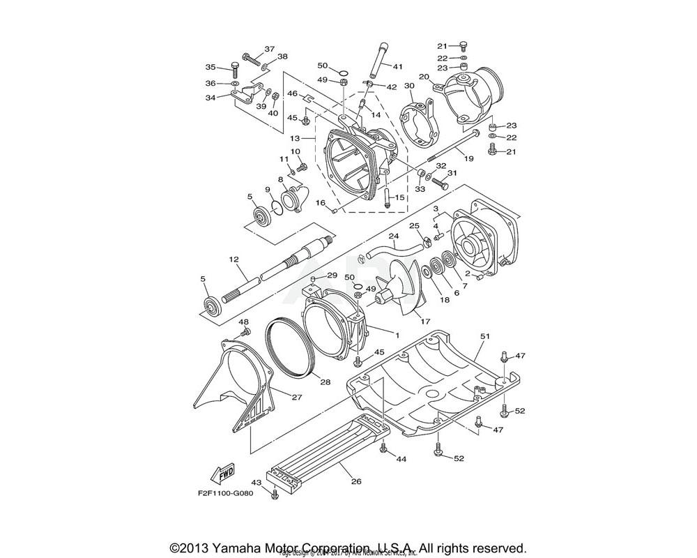 Yamaha OEM 6BA-51313-00-00 NOZZLE, DEFLECTOR