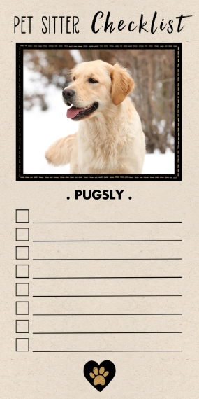 Pets Flat Matte Photo Paper Cards with Envelopes, 4x8, Card & Stationery -Pet Rescue Checklist