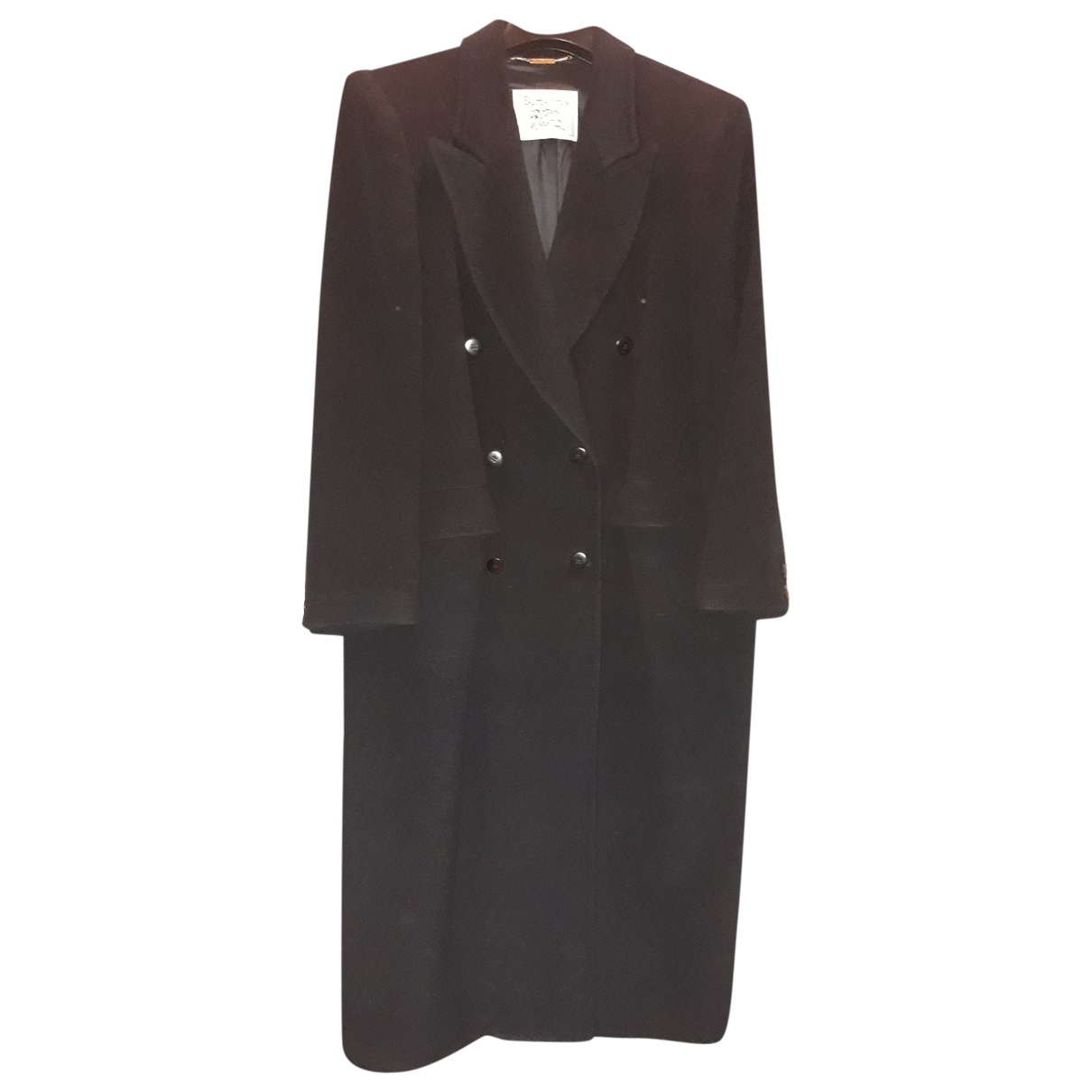Burberry \N Black Wool coat for Women 48 FR
