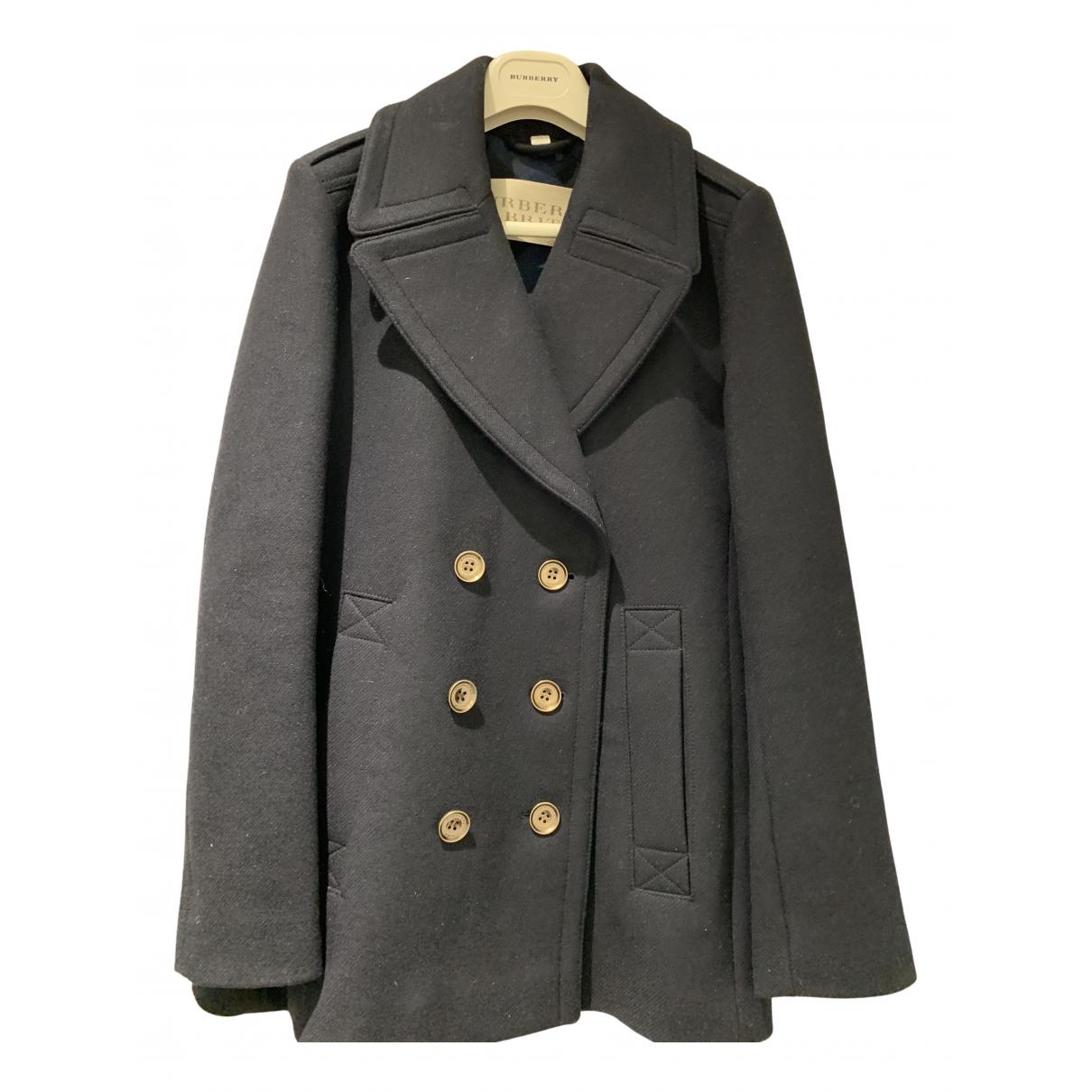 Burberry \N Navy Wool coat for Women 8 UK