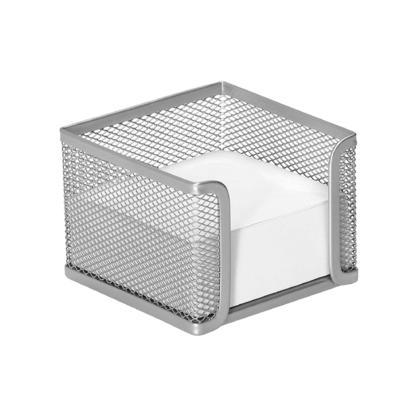 Foska® Porte-mémo en mesh pour bureau à domicil - Argent