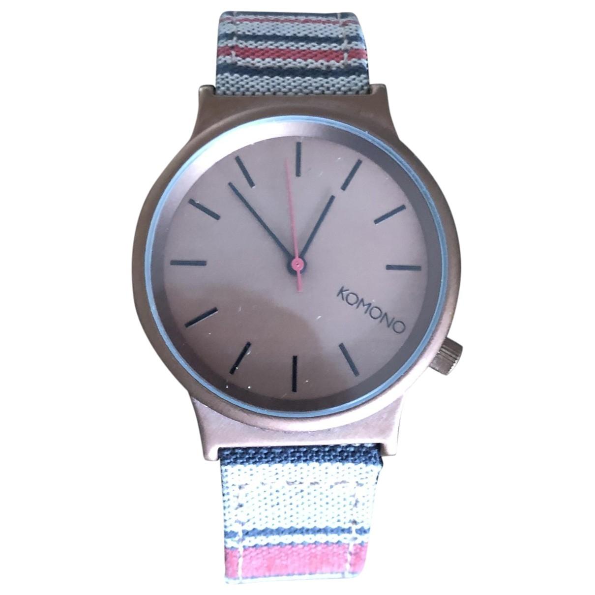 Komono \N Multicolour Steel watch for Men \N