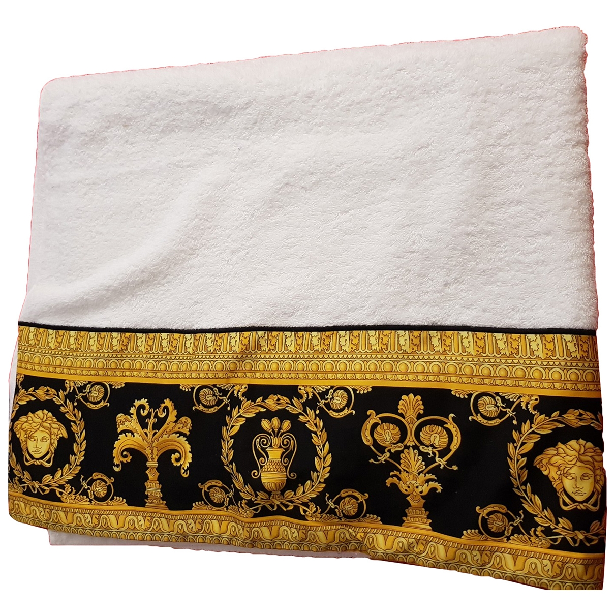 Gianni Versace \N White Cotton Textiles for Life & Living \N