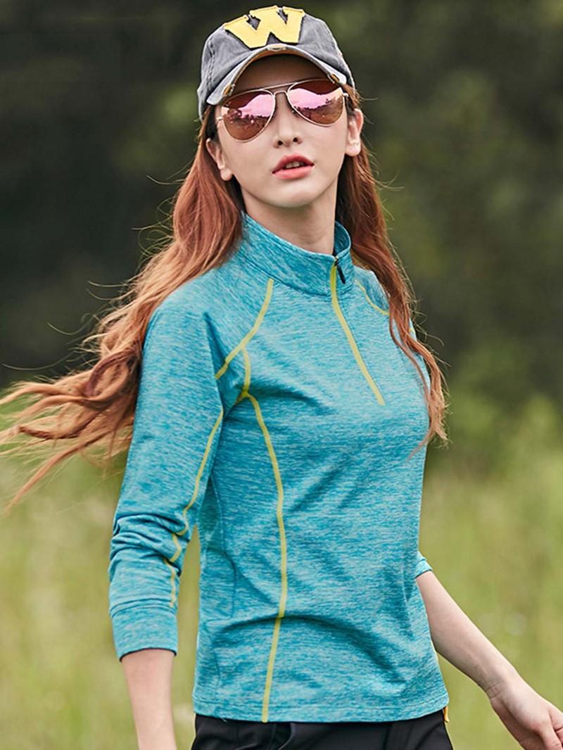 Ericdress Women Easy-Care Finish Stripe Anti-Sweat Pullover Sports Tops