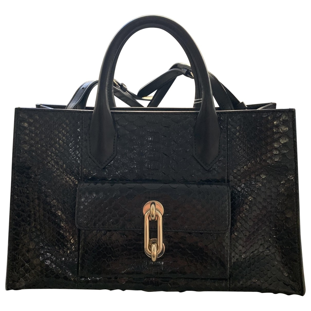 Balenciaga Padlock Black Leather handbag for Women \N