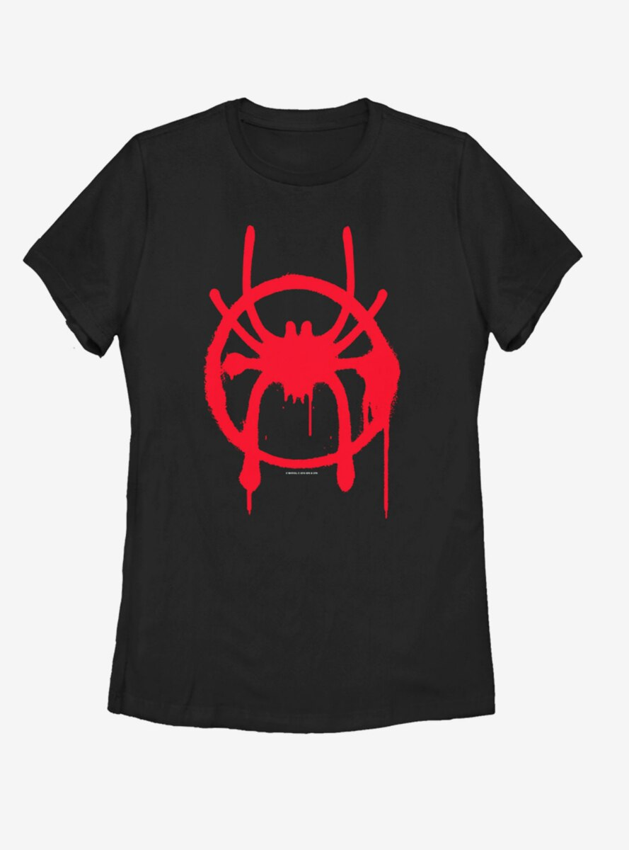 Marvel Spider-Man: Into the Spider-Verse Miles Symbol Womens T-Shirt