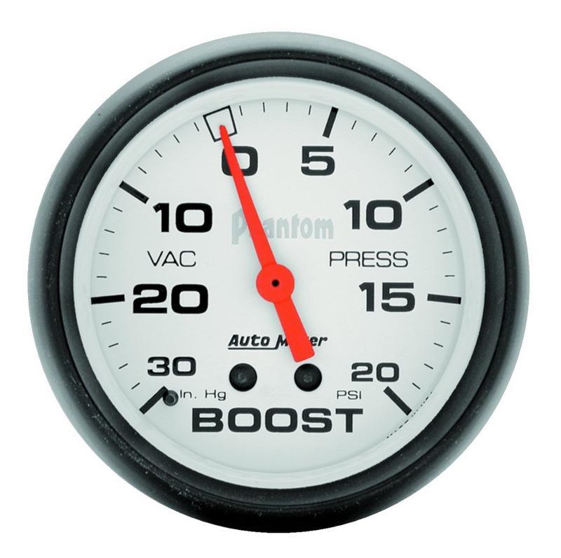 AutoMeter GAUGE; VAC/BOOST; 2 5/8in.; 30INHG-20PSI; MECHANICAL; PHANTOM
