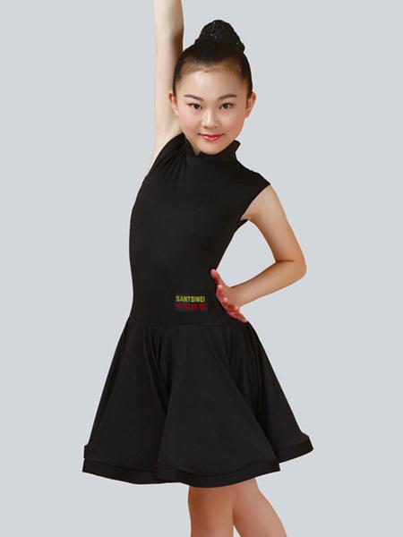 Milanoo Dance Costumes Latin Dancer Dresses Kids Lilac Little Girls Ballroom Dancing Wears Halloween