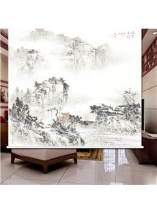 Ink Landscape Painting 3D Printed Roller Shades