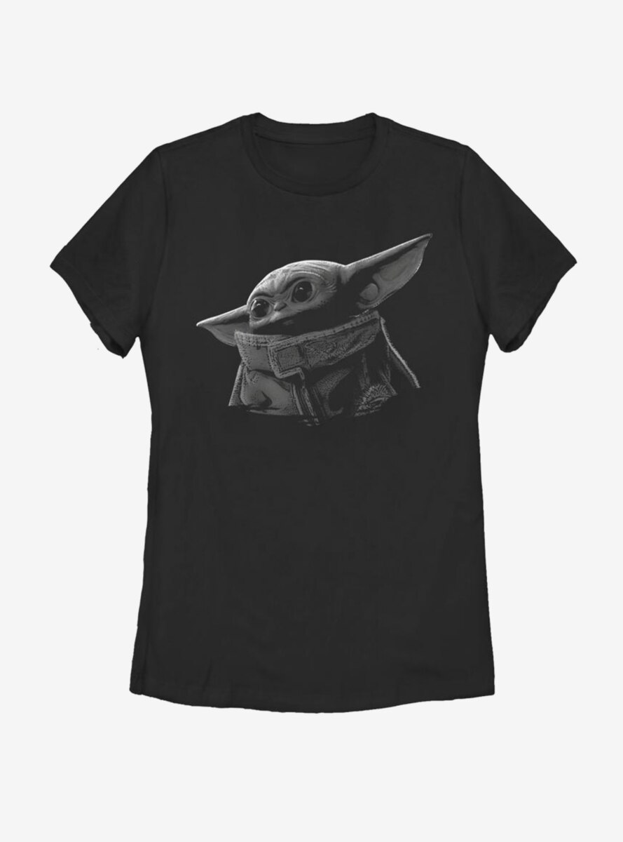 Star Wars The Mandalorian The Child Grayscale Womens T-Shirt