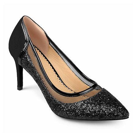 Journee Collection Womens Kalani Pumps Stiletto Heel, 12 Medium, Black