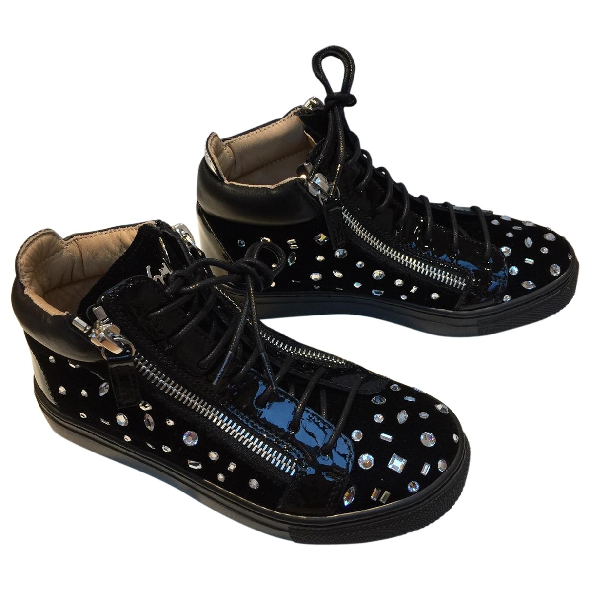 Giuseppe Zanotti \N Black Velvet Trainers for Kids 31 EU