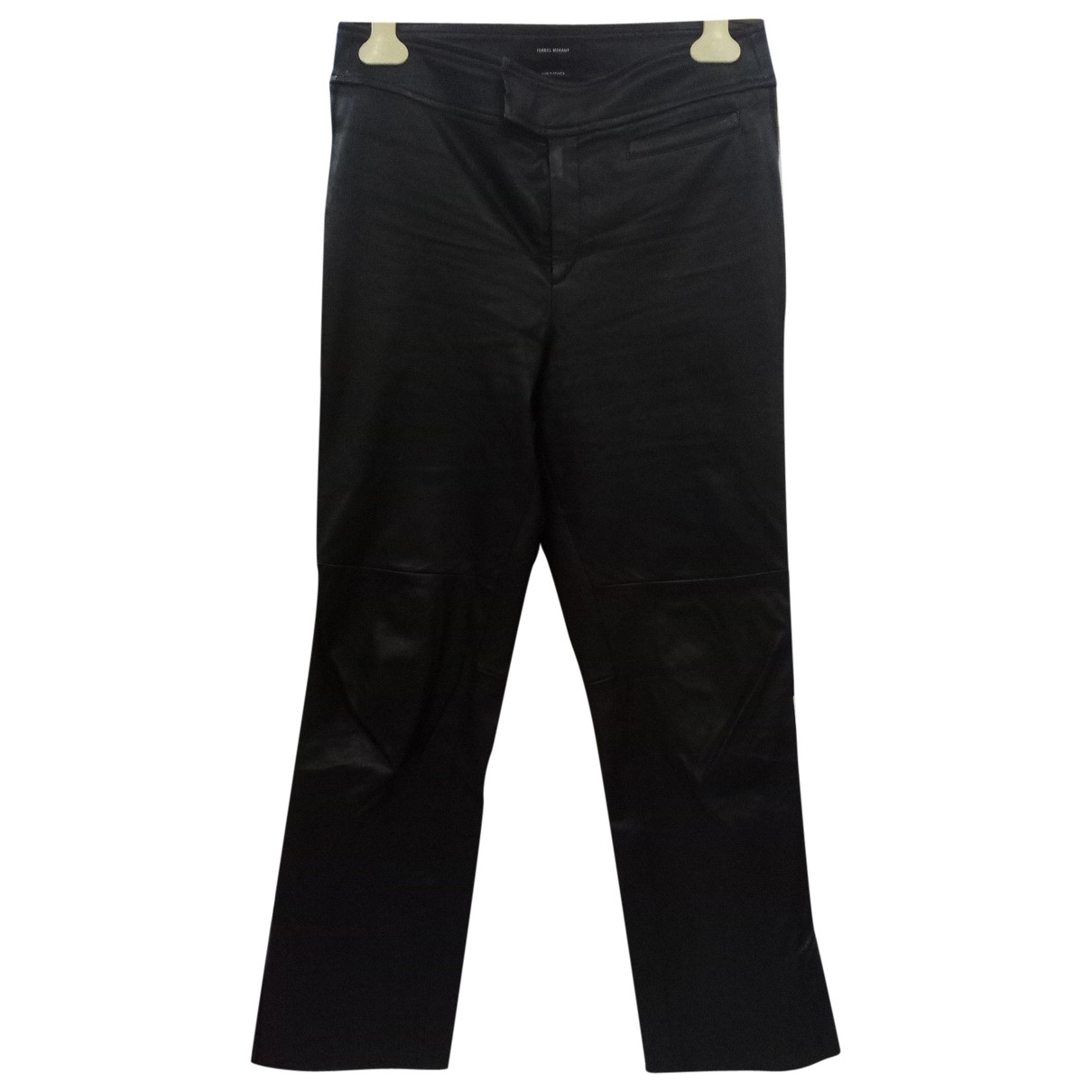 Isabel Marant \N Black Leather Trousers for Women 40 FR
