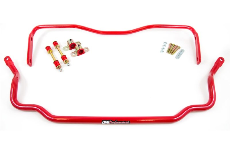 UMI Performance 403534 Front|Rear Sway Bar Kit GM A-Body 64-72