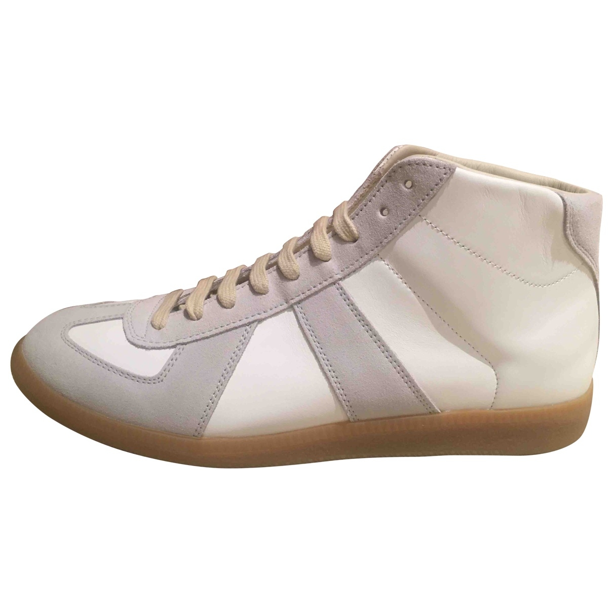 Maison Martin Margiela Replica White Leather Trainers for Men 41 EU