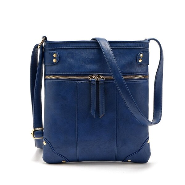 Simple Rivets Messenger Handbag Shoulder Bag Ladies Tote Crossbody Bags