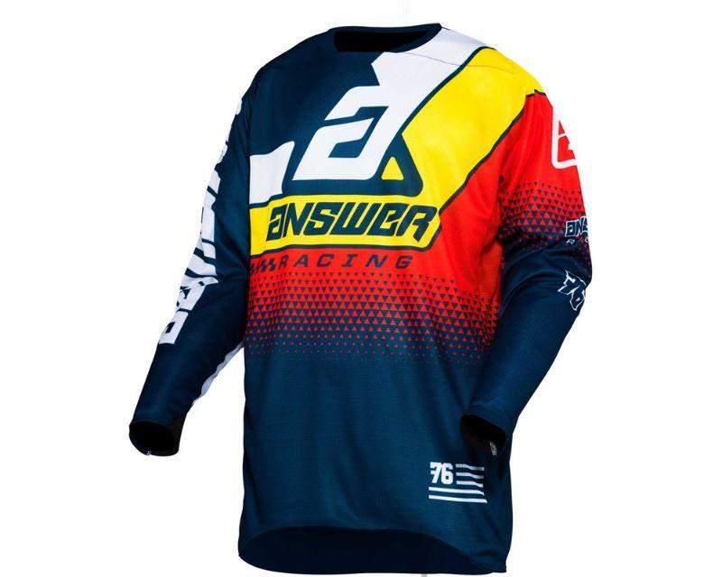 Answer 444543 A20 Elite Korza Jersey Midnight Yellow Red LG