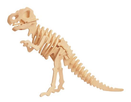 D-14-1 DIY 3D Wooden Dinosaur Animal Puzzle Mini Tyrannosaurus Rex Model Safe Friendly-environmental Simulation Intellig