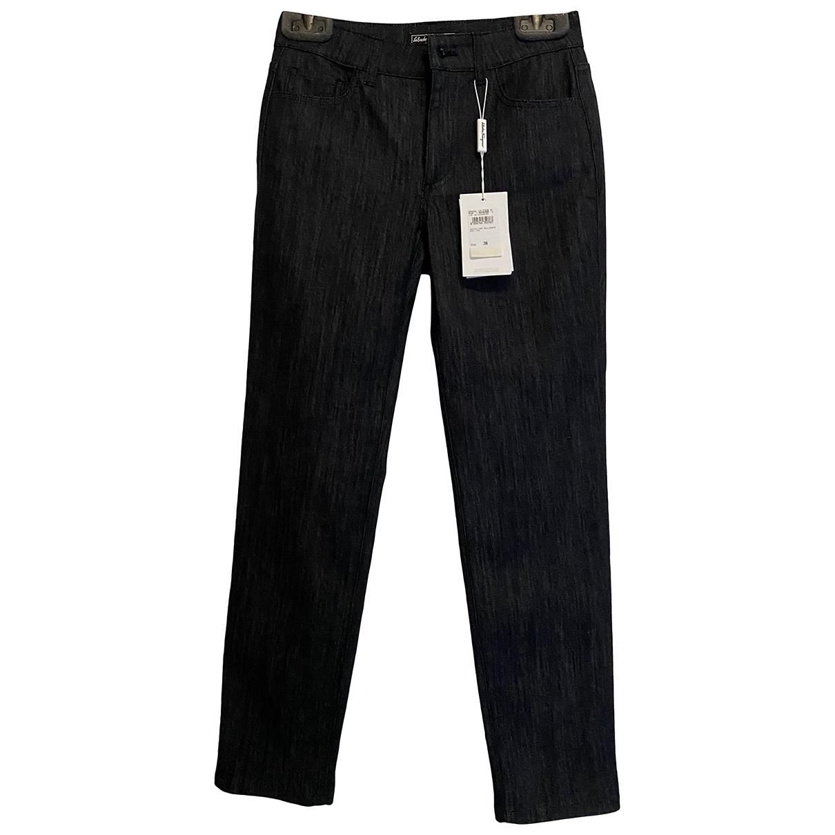 Salvatore Ferragamo \N Blue Cotton - elasthane Jeans for Women 36 FR