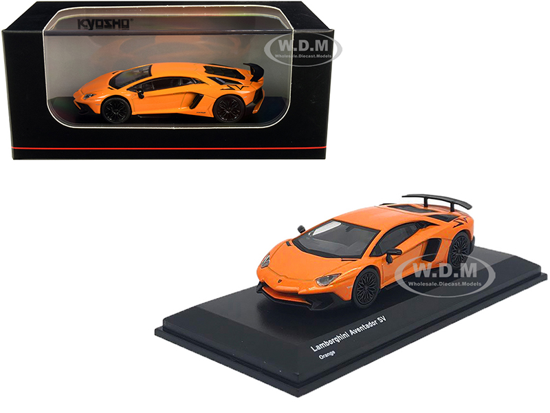 Lamborghini Aventador SV Orange 1/64 Diecast Model Car by Kyosho