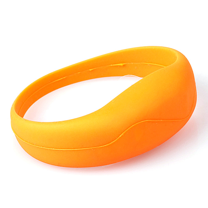 LED Tunnel silicone bracelet vibration sensor concert Evening performances Decorations - Orange