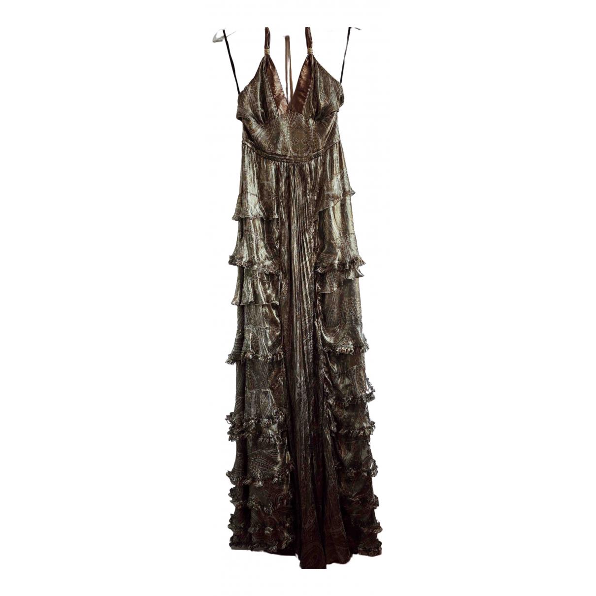 D&g \N Gold Silk dress for Women 38 IT