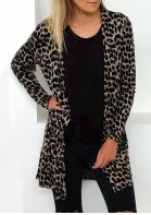 Leopard Long Sleeve Chic Cardigan