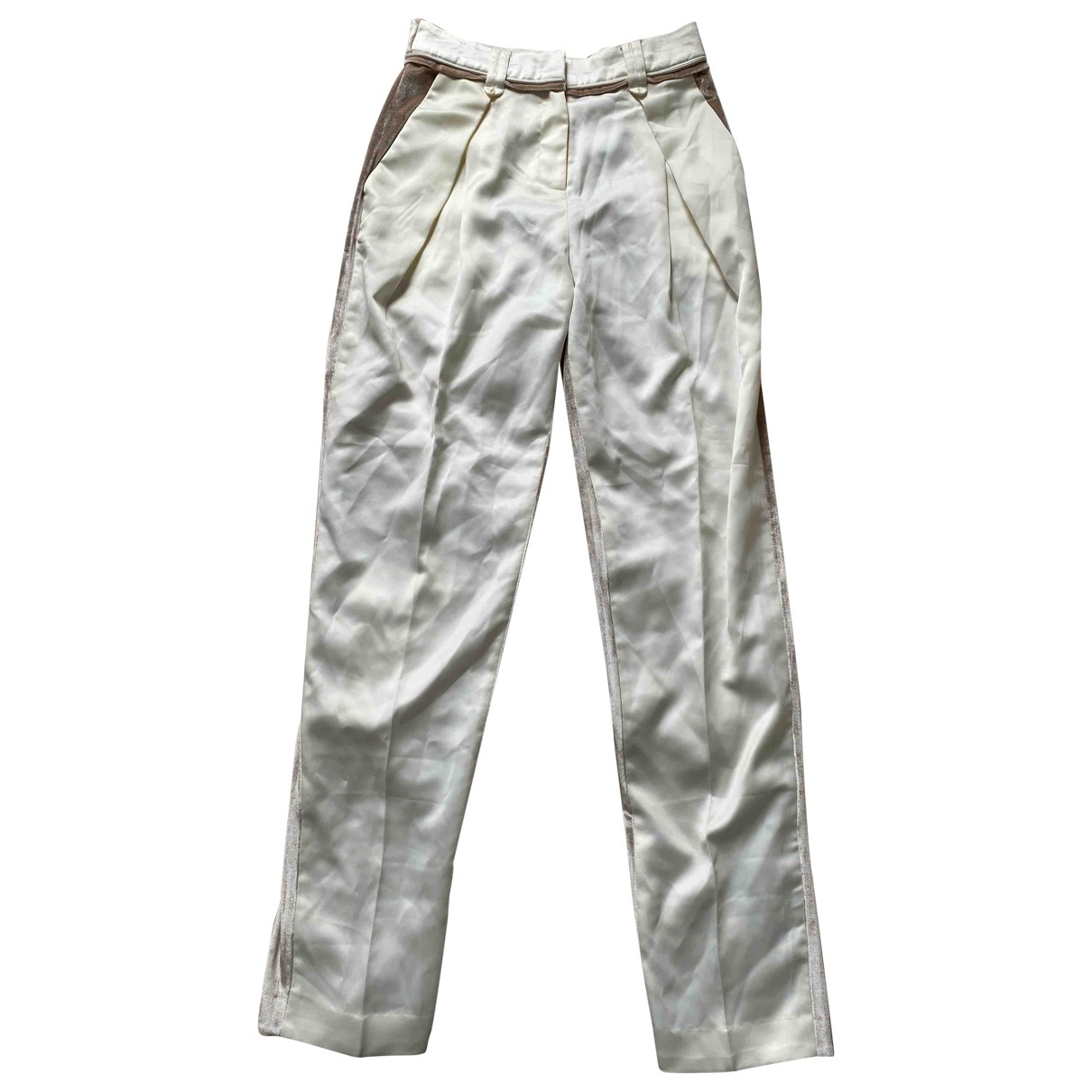 Self Portrait \N White Trousers for Women 8 UK