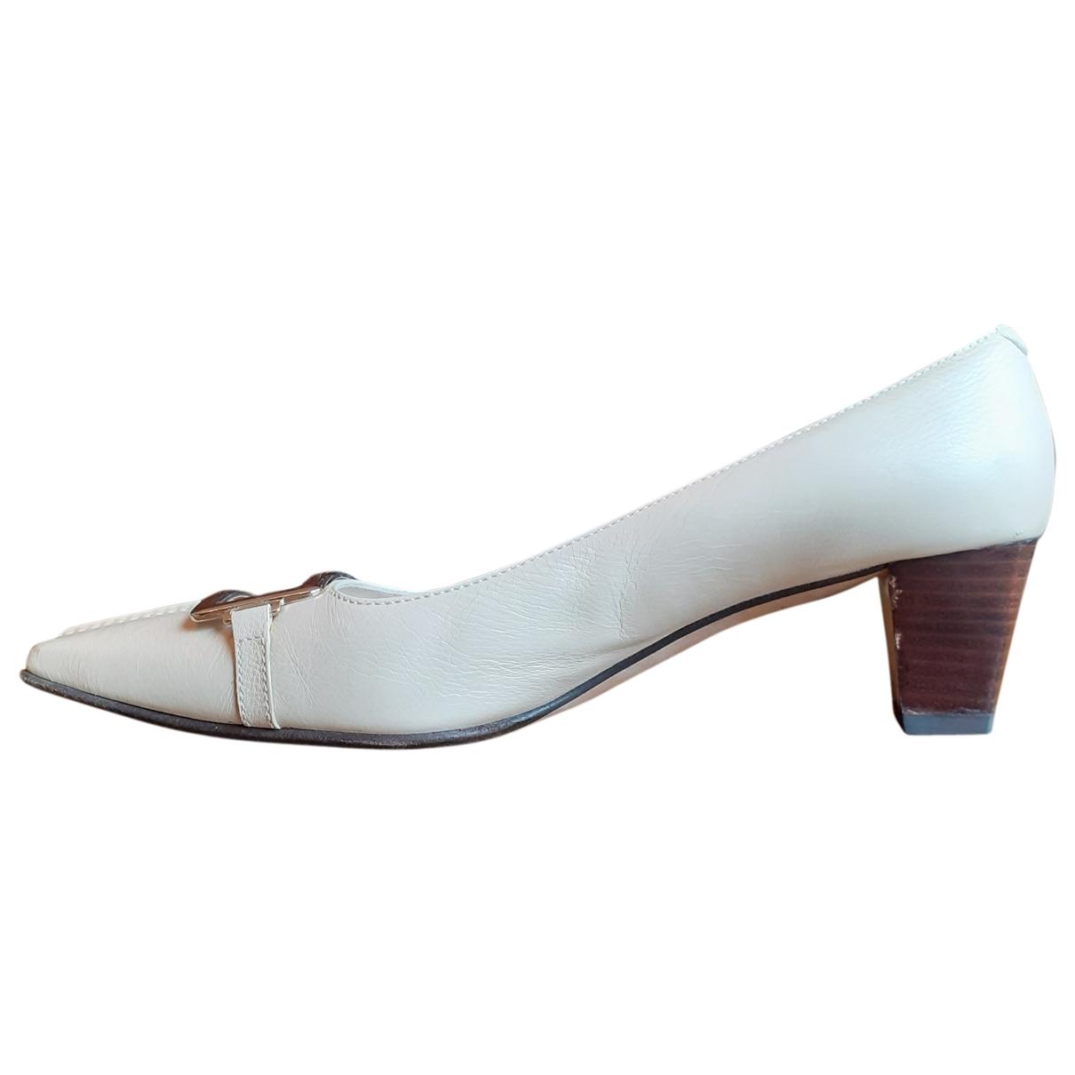 Balenciaga \N Beige Leather Heels for Women 38 EU