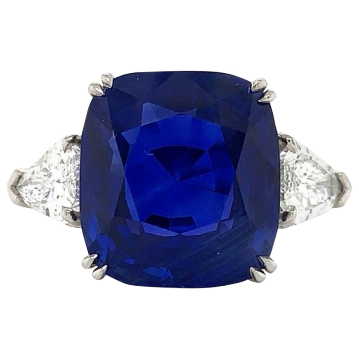 Non Signé / Unsigned Saphir Blue White gold ring for Women 55 MM
