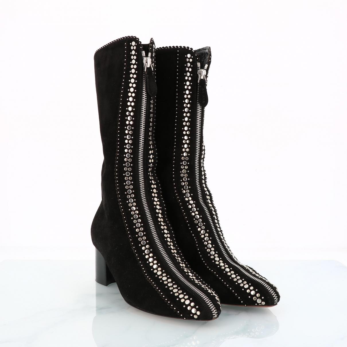 Alaïa \N Black Suede Boots for Women 39 EU