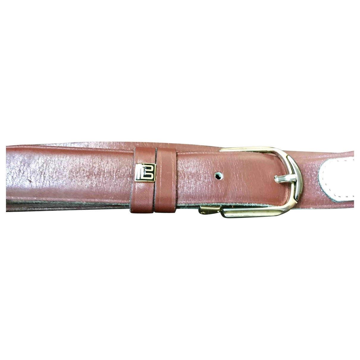 Pierre Balmain \N Brown Leather belt for Men 95 cm