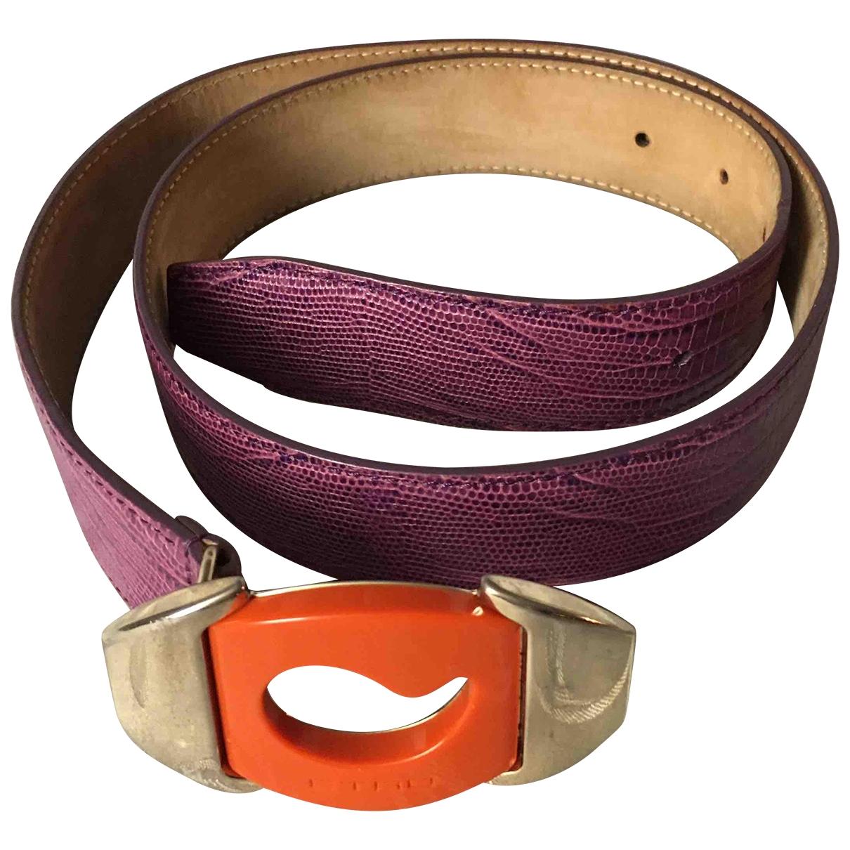 Etro \N Purple Leather belt for Women 85 cm