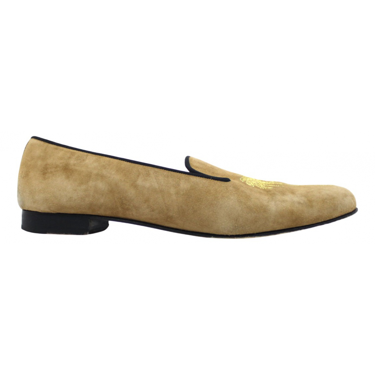 Penelope Chilvers \N Beige Suede Flats for Women 39 EU