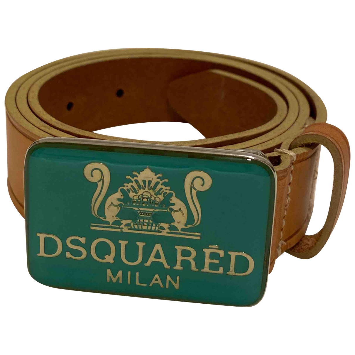 Dsquared2 \N Beige Leather belt for Women S International