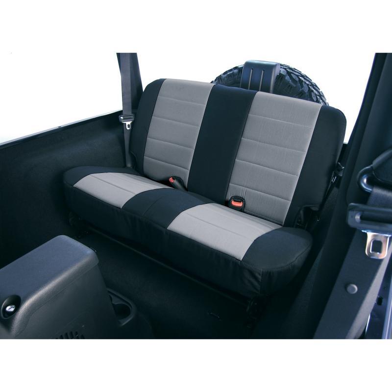 Neoprene seat cover, Rugged Ridge 13263.09, rear, gray, 03-06 Wrangler Jeep Wrangler 2003-2006