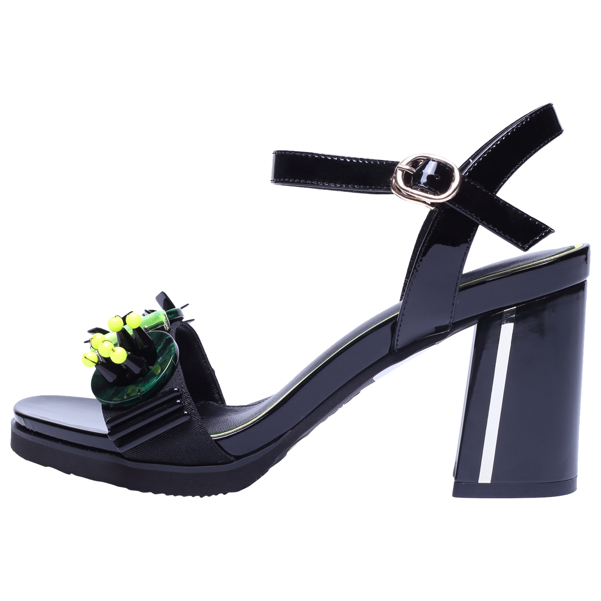 Non Signé / Unsigned \N Black Patent leather Heels for Women 37 EU