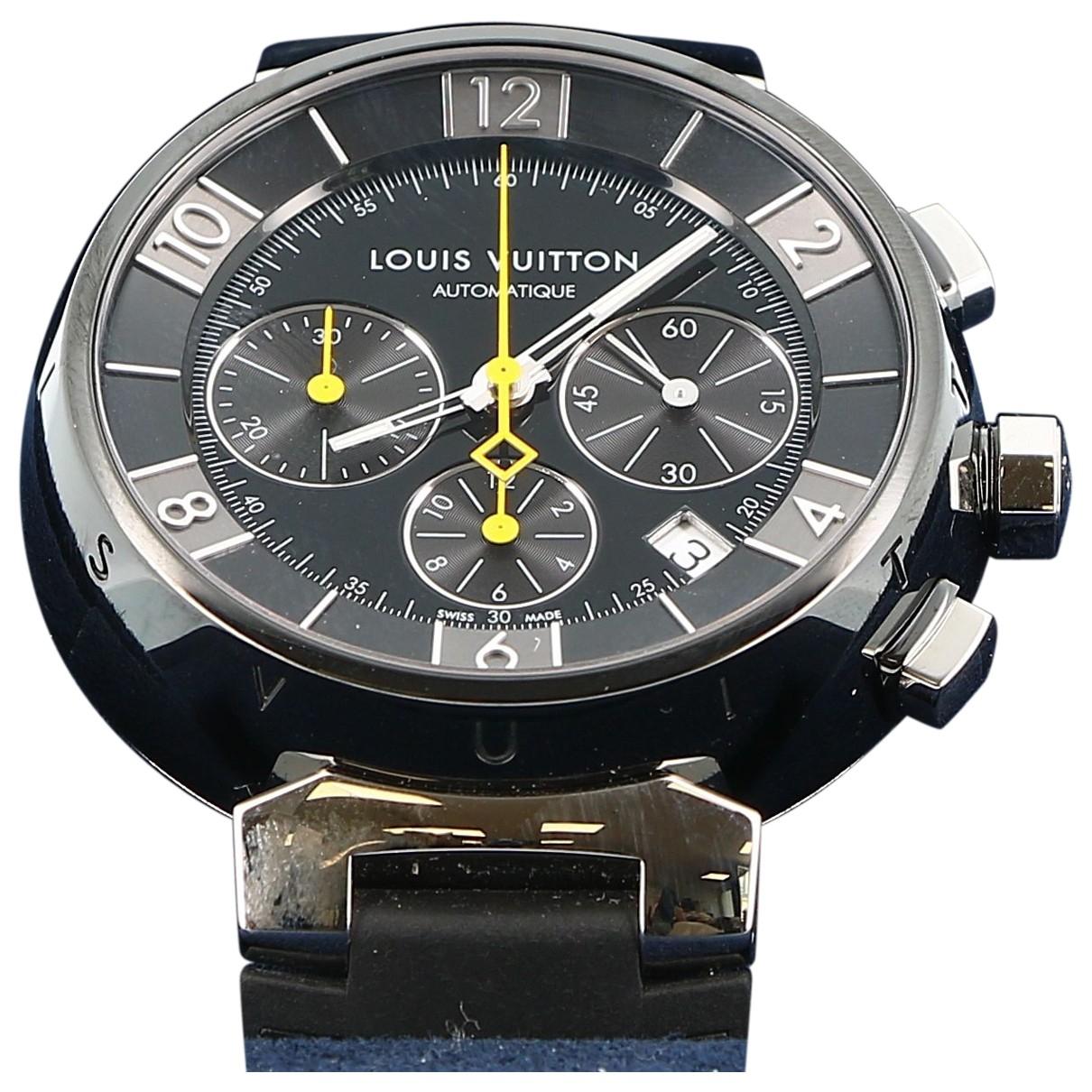 Louis Vuitton Tambour Black Steel watch for Women \N