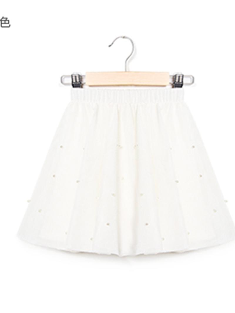 Ericdress Mid-Waist Beads Ball Gown Mesh Girls' Mini Skirt