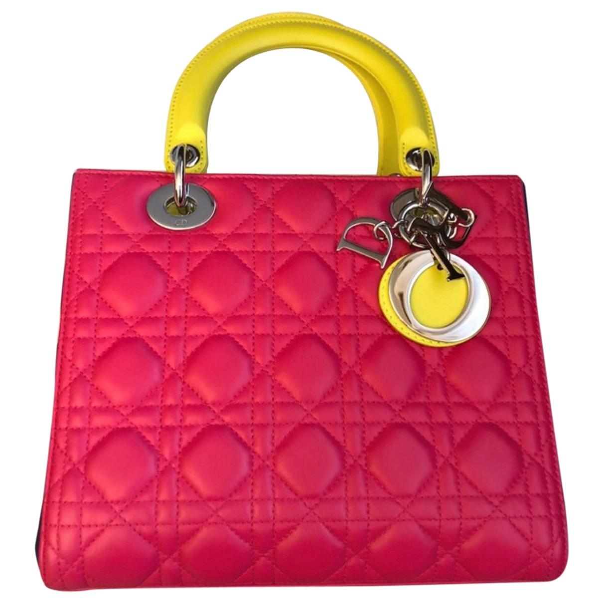 Dior Lady Dior Multicolour Leather handbag for Women \N