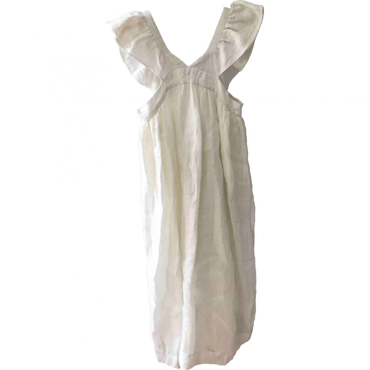 Bonpoint \N White Linen dress for Kids 8 years - up to 128cm