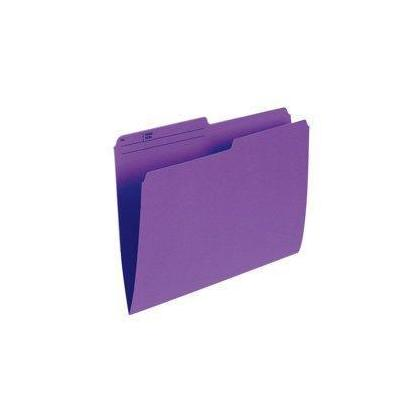 Pendaflex@ Recycled Coloured Reversible File Folders, 100 folders per box - Violet, Letter 486274