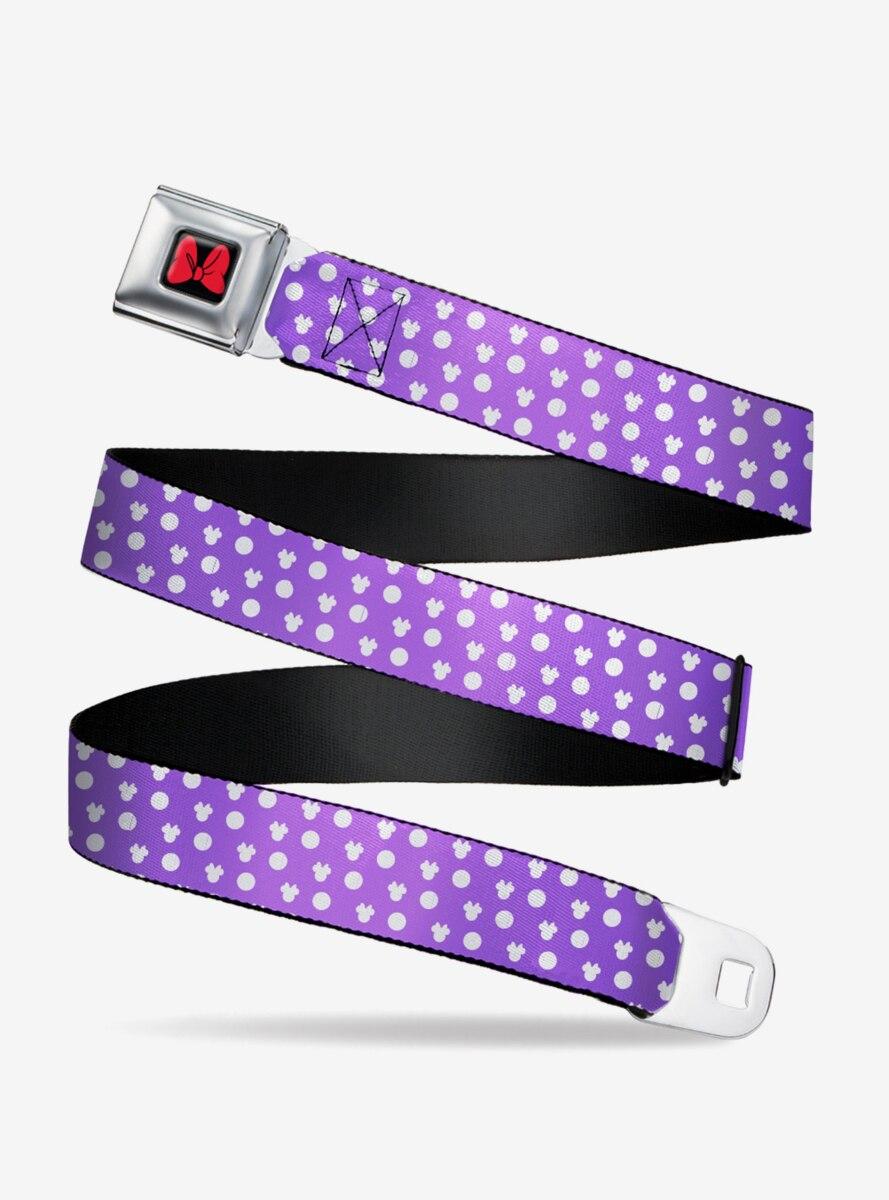 Disney Minnie Mouse Ears Monogram Dots Seatbelt Belt