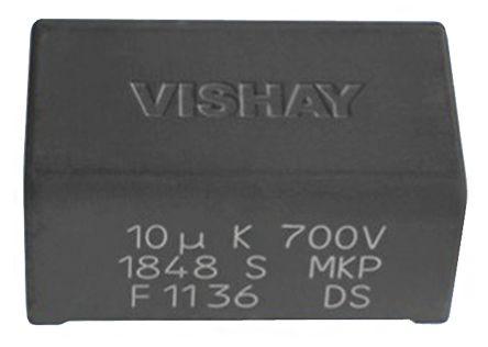 Vishay 20μF Polypropylene Capacitor PP 500V dc ±5% Tolerance Through Hole MKP1848S DC-Link Series