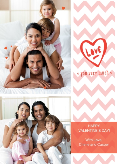 Valentine's Cards Flat Matte Photo Paper Cards with Envelopes, 5x7, Card & Stationery -Handwritten Love Note